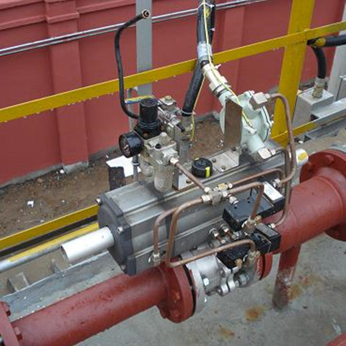 Pneumatic ball valves for natural gas plant